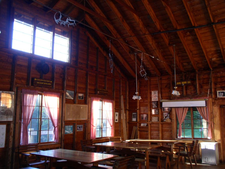 Johns Brook Lodge dining hall