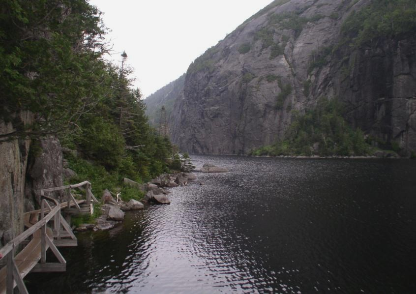 Avalanche Lake Trail, Colden on right