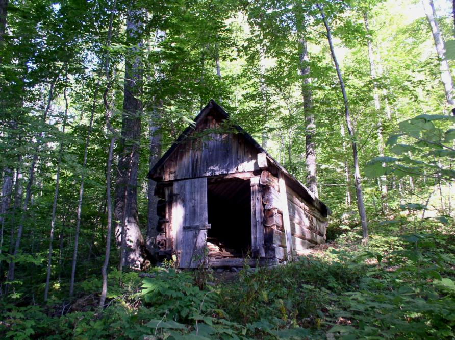 Run-down cabin on the Little Porter trail