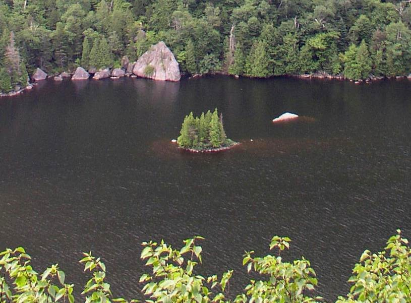 Lower Ausable Lake from a Scenic Trail lookout